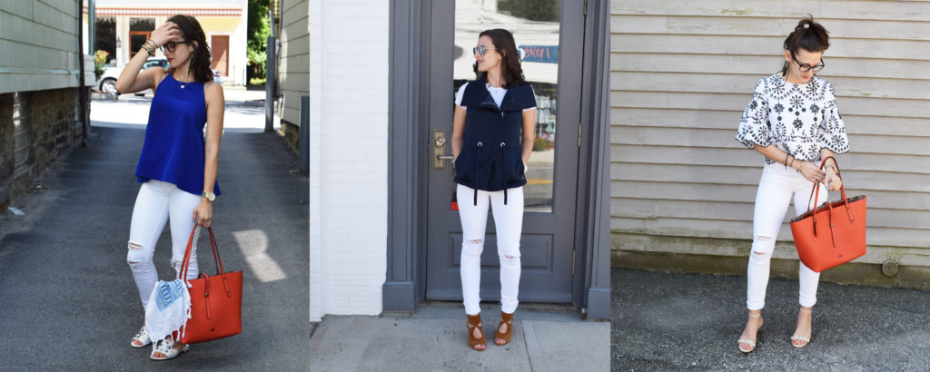 One Pair of White Jeans and Three Looks!
