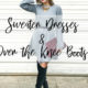 Sweater Dresses & Over The Knee Boot Looks